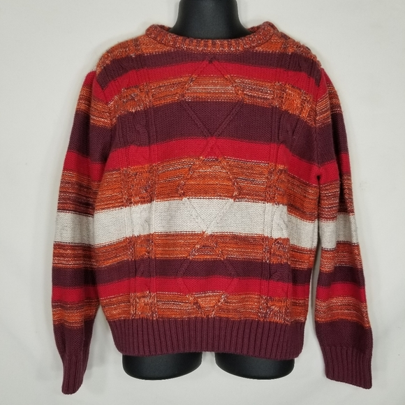 Hanna Andersson Stripe Wool Blend Sweater 110